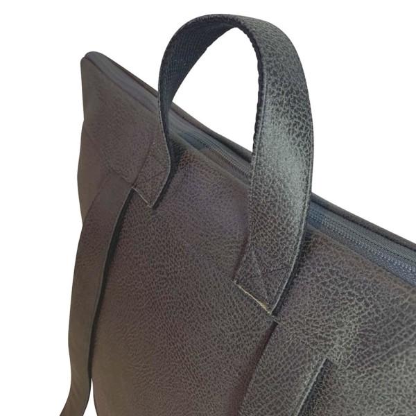Nachhaltiger Rucksack Dunkelgrau Detailansicht Hinten