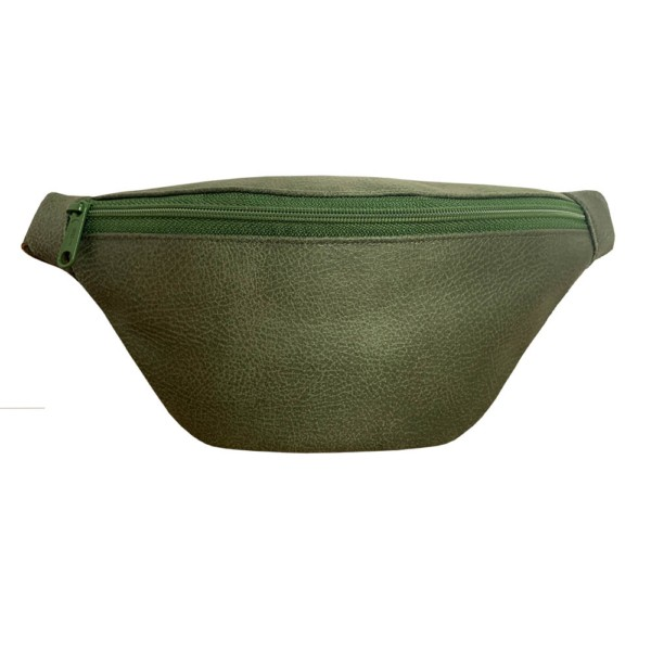 Frontansicht Guerteltasche Leder Faserstoff Bowleanies Khaki |Olivgrün