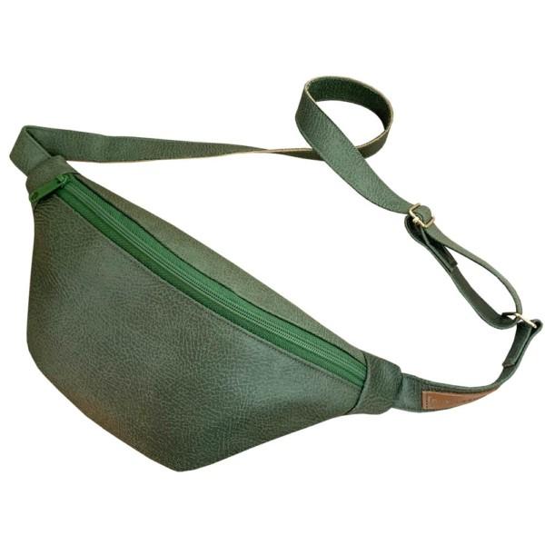 Von oben Guerteltasche Leder Faserstoff Bowleanies Khaki |Olivgrün
